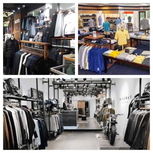 Lojas de moda masculinas