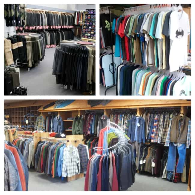Lojas de roupas masculinas