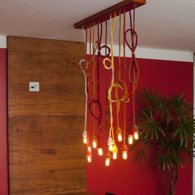 Lustre Artesanal com cordas