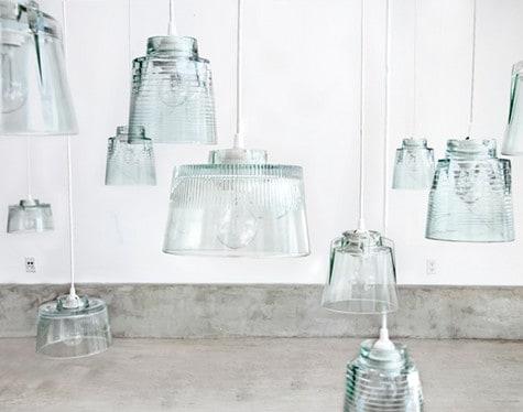 Lustre Artesanal com vidro