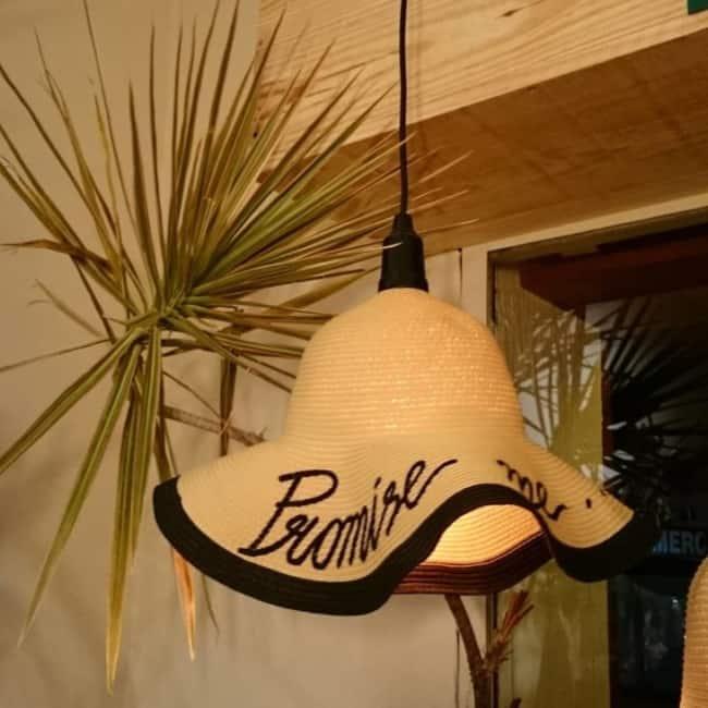 Lustre Artesanal de chapeu