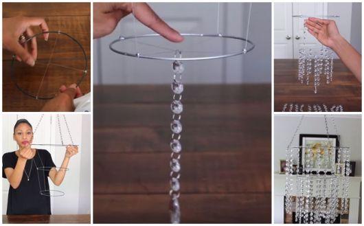 Lustre de cristal como fazer
