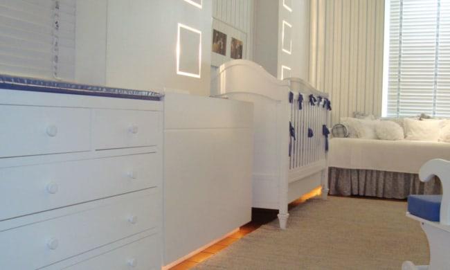 Móveis brancos para quarto do bebê