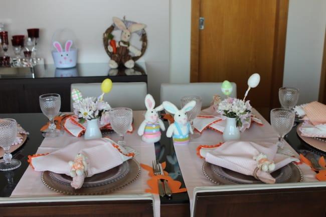 Mesa decorada para a páscoa