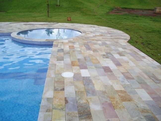 Mescla de pedra mineira para piscina