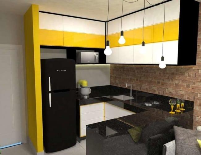 Modelo de cozinha americana moderna pequena