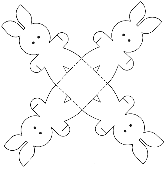 Molde de Caixa de Coelho da Páscoa32
