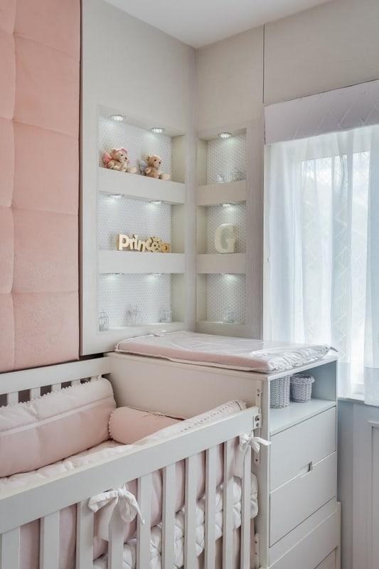 Nichos planejados para quarto de bebê