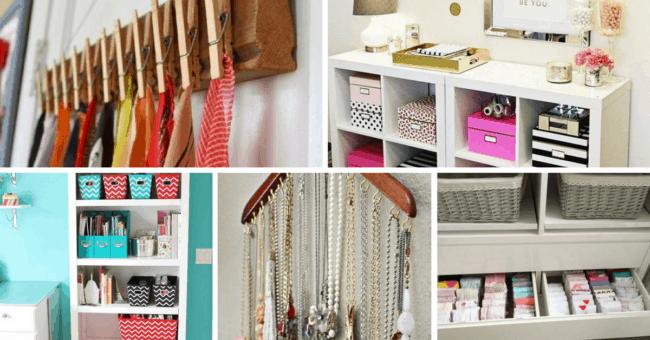 Organizar bijus acessórios e outros objetos pessoais