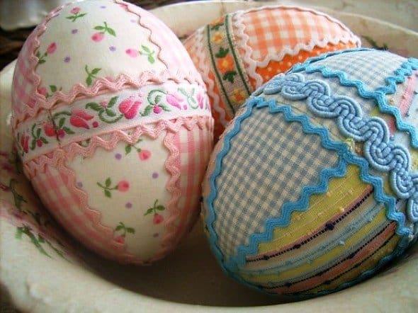 Ovos de páscoa de tecido