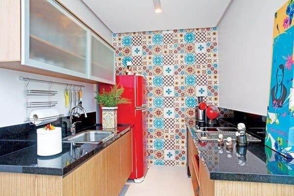 Papel contact na parede da cozinha ideias