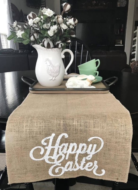 Passadeira de feliz páscoa