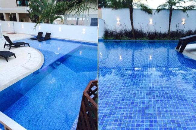 Pastilhas de vidro para piscina