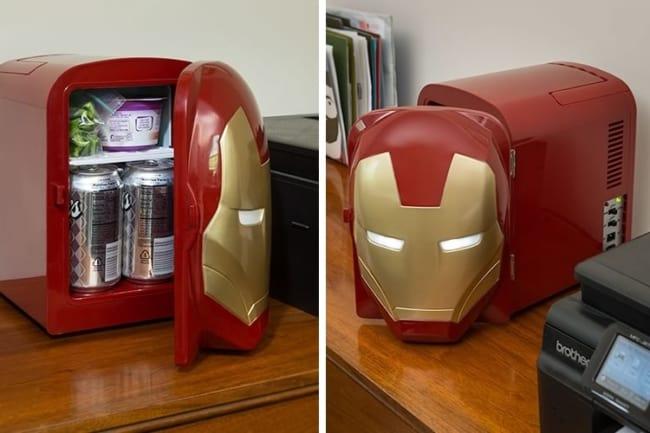 Pequeno frigobar geek para por no escritório