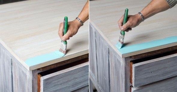 Pinte a madeira sempre na mesma direção