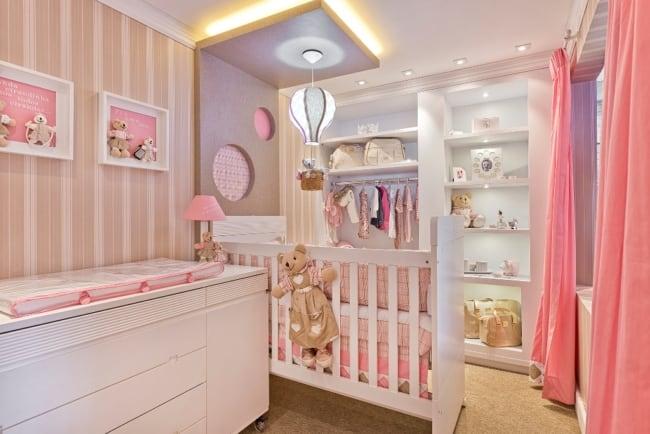Projeto de quarto de bebê feminino