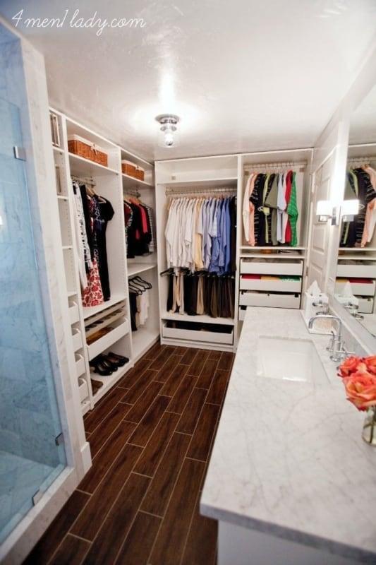 Sugestão de closet no banheiro