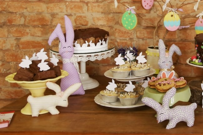 Sugestão de mesa de doces para a Páscoa