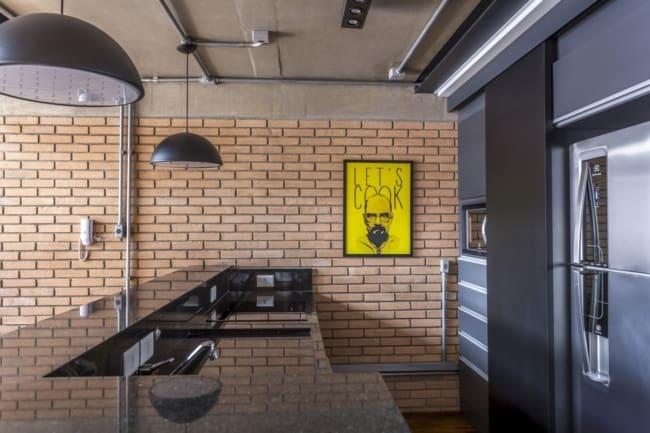 Tubulação aparente na cozinha ideias