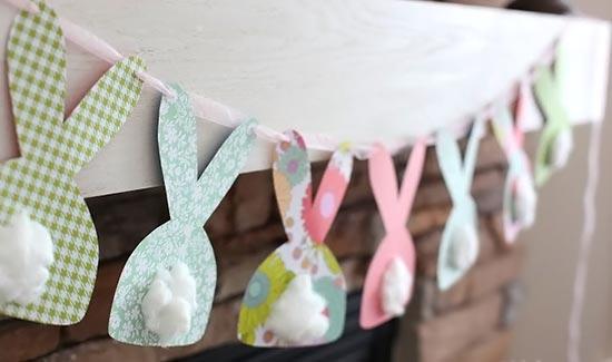 Varal de coelhinhos para decoração de páscoa para escola29