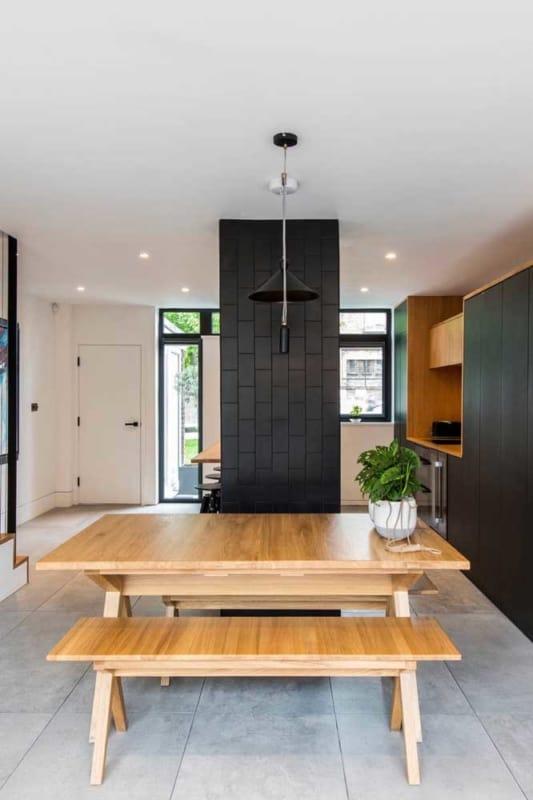 azulejo da cozinha pintado de preto