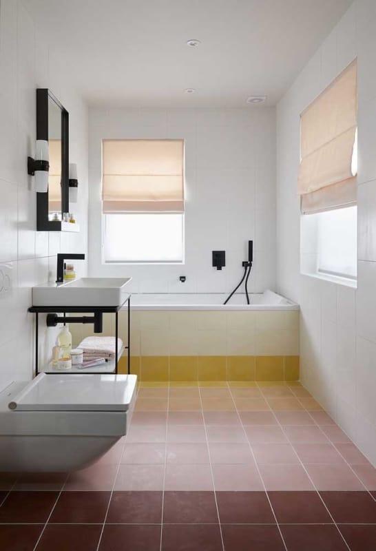 azulejo do banheiro pintado