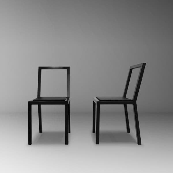 cadeiras diferentes clean preta