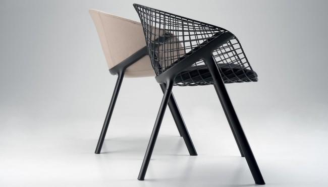 cadeiras diferentes de metal