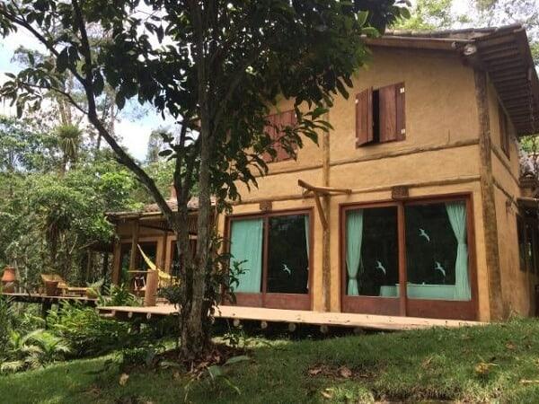 casa rustica com tijolo de barro