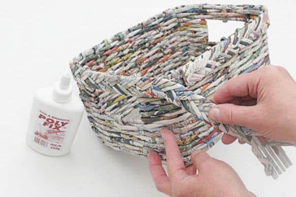 cesta de jornal acabamento
