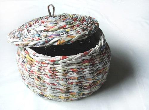 cesta de jornal balaio