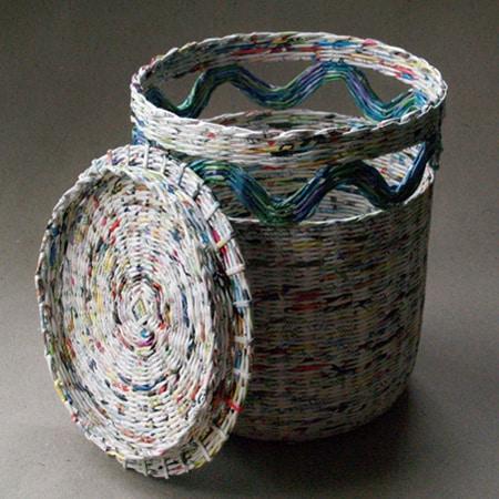 cesta de jornal modelo simples