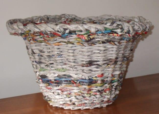 cesta de jornal passo a passo