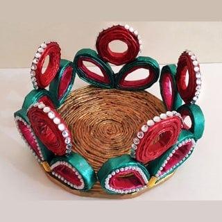 cesta de jornal pintada