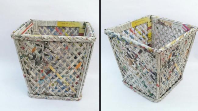 cesta de jornal quadrada