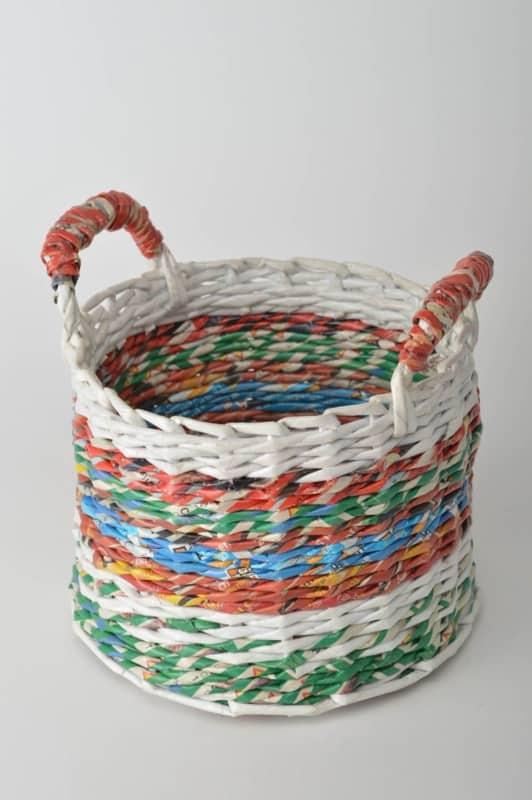 cesta de jornal redonda