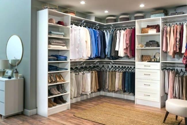 closet em L branco