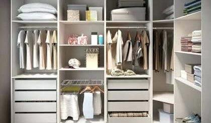 closet em L compacto branco