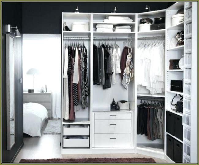 closet em L compacto