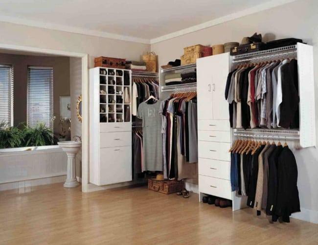 closet em L conceito aberto