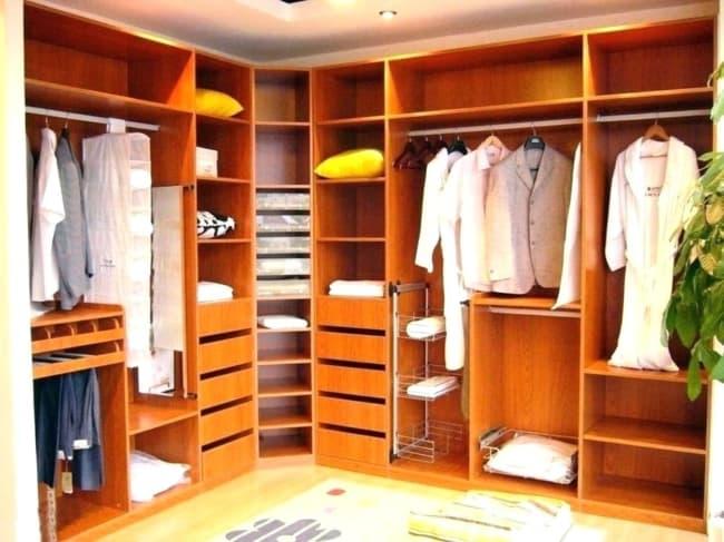closet em L de madeira
