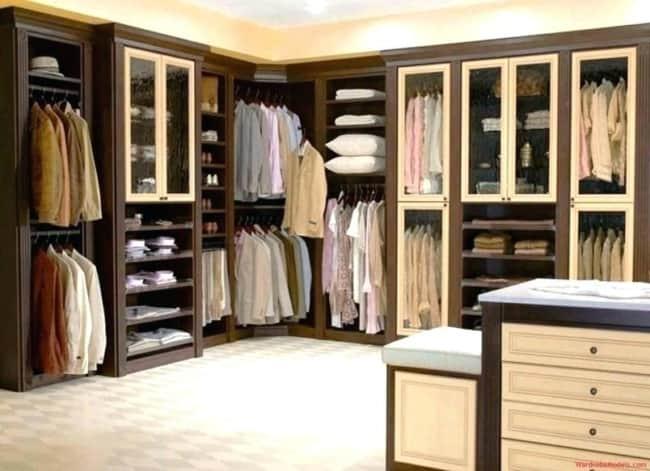 closet em L madeira masculino
