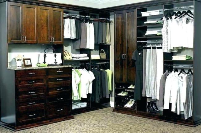closet em L madeiras classicas