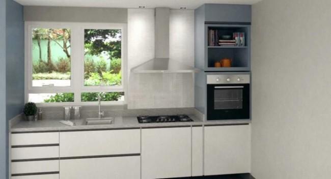 cozinha clean com fogão