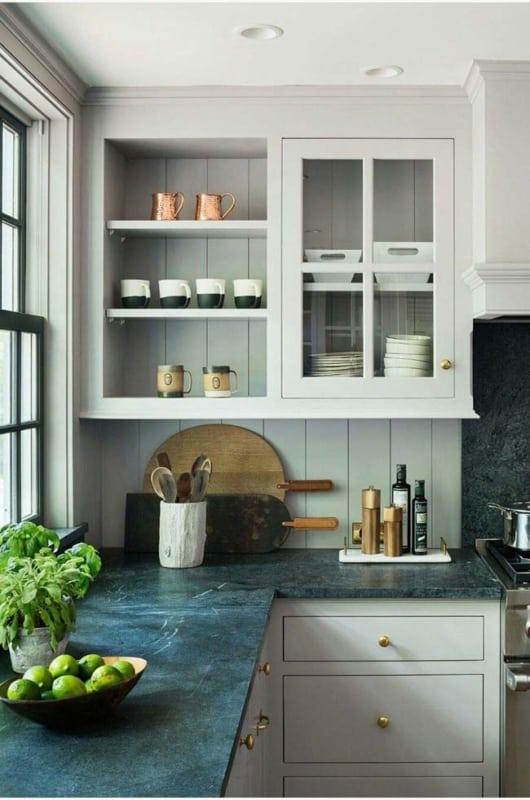 cozinha com Granito Verde Ubatuba ideias