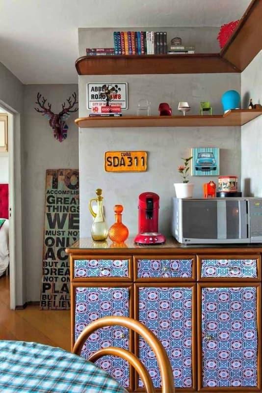 cozinha com papel contact