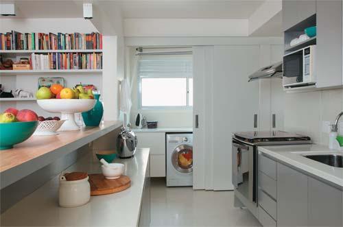 cozinha equipada com Fogão de Embutir