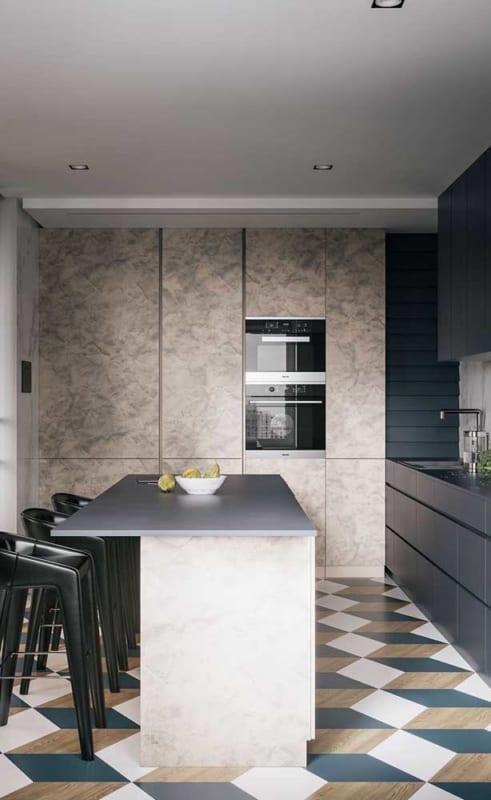 cozinha toda planejada simples com estilo industrial