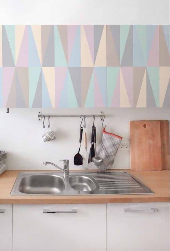 decoração da cozinha com Papel contact para móveis