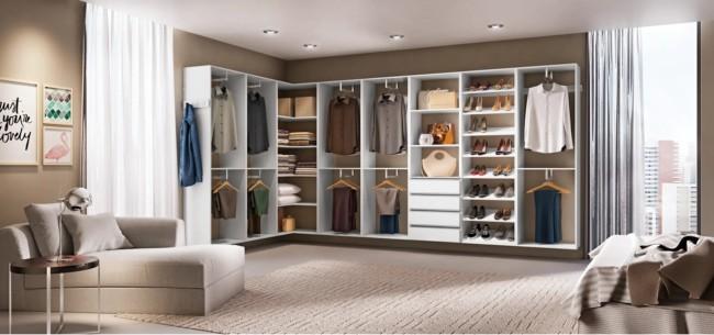fotos de closet em L